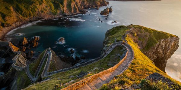 Path to San Juan de Gaztelugatxe, Basque Country, Spain, for the 'Game of Thrones' premiere